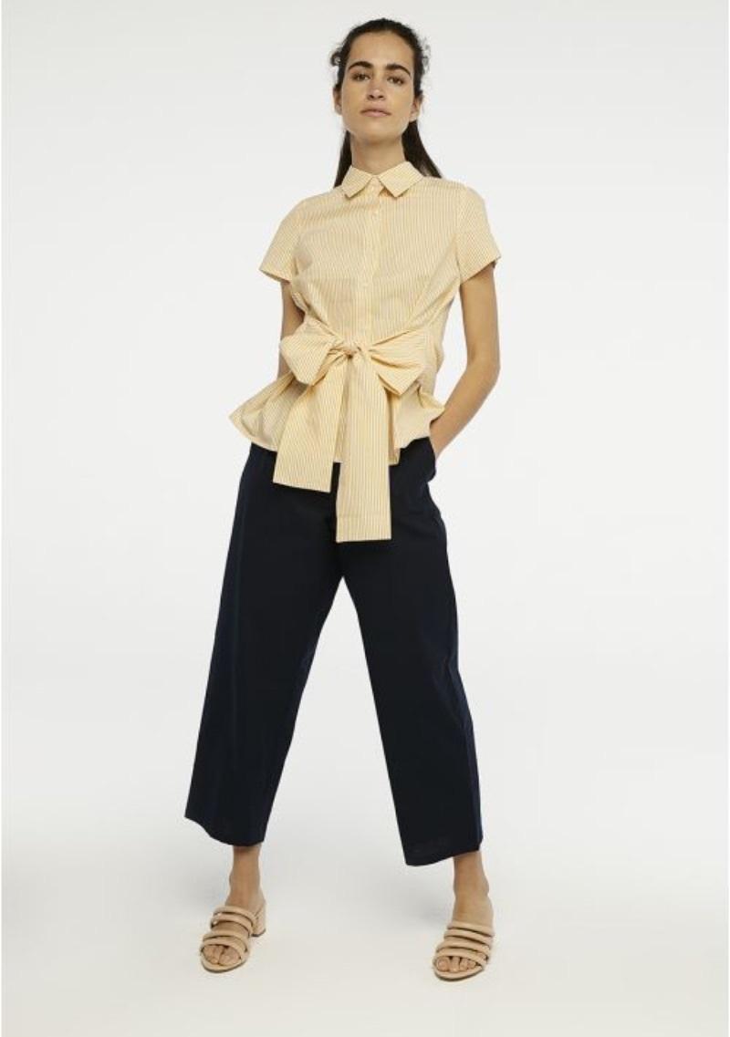 camicia-a-righe-gialle-con-fiocco