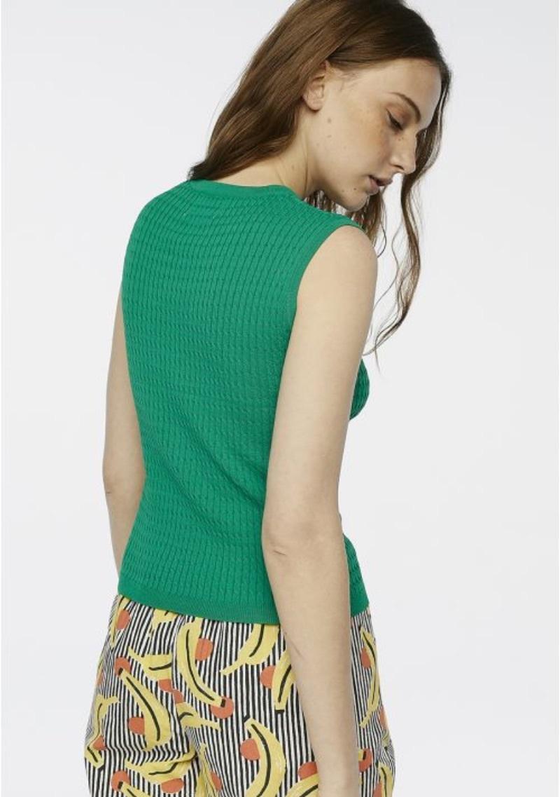 top-in-maglia-senza-maniche-verde